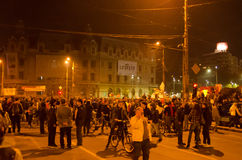 Rumänischer Protest 04/11/2015 Stockfotografie