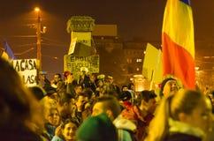 Rumänischer Protest 04/11/2015 Stockbild