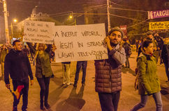 Rumänischer Protest 05/11/2015 Stockfotos