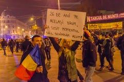 Rumänischer Protest 05/11/2015 Stockbild