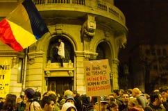 Rumänischer Protest 05/11/2015 Stockfotografie