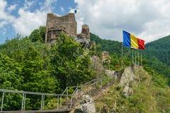 Rumänisches altes Schloss Stockfotografie