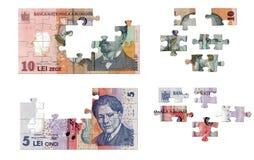 Rumänisches Geldpuzzlespiel Lizenzfreies Stockbild