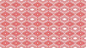 Rumänisches traditionelles nahtloses Muster stock abbildung