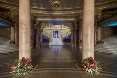 Rumänsk Athenaeum, Bucharest Rumänien - inre bild Arkivfoton