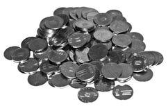 Rumänsk bani 10 myntar Arkivfoto