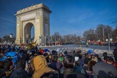 Rumänsk beröm 2016 för nationell dag royaltyfri fotografi