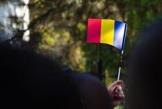Rumänsk flagga Arkivbilder