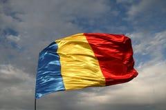 Rumänsk flagga Fotografering för Bildbyråer