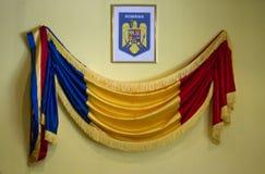 Rumänsk flagga royaltyfria bilder