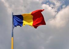 Rumänsk flagga Arkivfoto