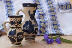 Rumänsk keramik Royaltyfri Bild