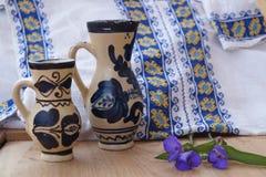 Rumänsk keramik Arkivfoto