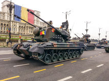 Rumänsk krigarebil Arkivbild