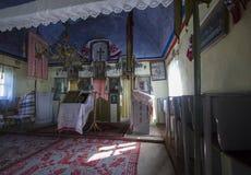 Rumänsk kyrklig inre royaltyfria foton