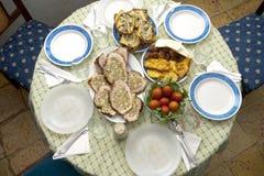 Rumänsk mat på partiet Arkivfoton