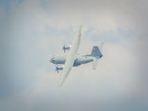 Rumänsk militär flygplanshow bucharest 2016 Arkivbild