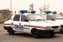 Rumänsk militär polisfordon Arkivfoto