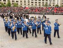 Rumänsk musikband för militär musik för gendarmeri Royaltyfri Fotografi