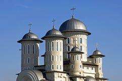 Rumänsk ortodox kyrka, stad Bacau, Rumänien Arkivfoton