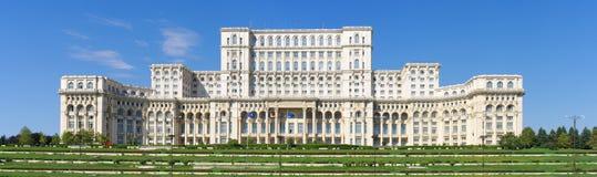 Rumänsk parlament, Bucharest, Rumänien Royaltyfria Foton
