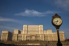 Rumänsk parlament (casaen Poporului), Bucharest Royaltyfri Bild
