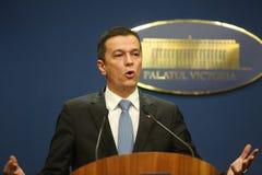 Rumänsk premiärminister Sorin Grindeanu royaltyfri fotografi