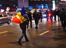 Rumänsk protest 19/01/2012 - 1 Fotografering för Bildbyråer