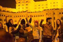 Rumänsk protest 04/11/2015 Arkivfoton