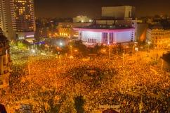 Rumänsk protest 04/11/2015 Royaltyfria Foton
