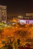 Rumänsk protest 04/11/2015 Arkivbilder