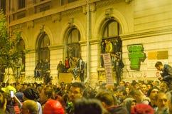 Rumänsk protest 04/11/2015 Royaltyfria Bilder