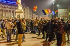 Rumänsk protest 05/11/2015 Arkivfoton