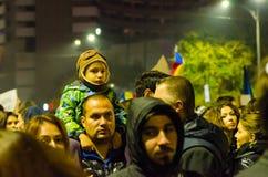 Rumänsk protest 05/11/2015 Fotografering för Bildbyråer