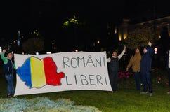 Rumänsk protest 05/11/2015 Arkivbilder