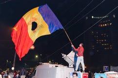 Rumänsk protest 05/11/2015 Royaltyfria Bilder