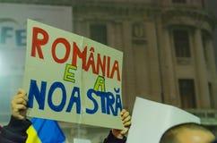 Rumänsk protest 06/11/2015, Bucharest Arkivfoton