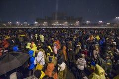 Rumänsk protest mot regering Arkivfoton