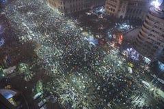 Rumänsk protest mot regering Arkivfoto