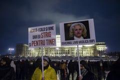 Rumänsk protest mot regering Arkivbild