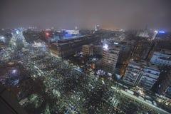 Rumänsk protest mot regering Fotografering för Bildbyråer