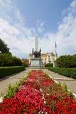 Rumänsk soldat Monument i Cluj, Rumänien Royaltyfri Foto
