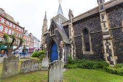 rumänsk stilkyrka för 12th århundrade av St Mary oskulden, Dover, Förenade kungariket Royaltyfria Foton