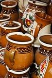 Rumänsk traditionell keramik 7 Arkivbild