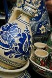 Rumänsk traditionell keramik 8 Arkivbilder