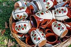 Rumänsk traditionell keramik 22 Arkivbild