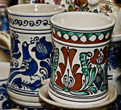 Rumänsk traditionell keramik 15 Royaltyfri Fotografi