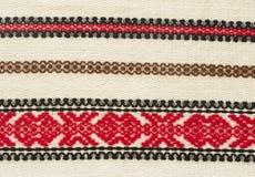 Rumänsk traditionell textil Arkivbild