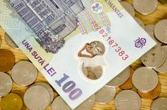 Rumänsk valuta Arkivbild