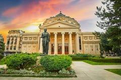 Rumänska Ateneum Bucharest fotografering för bildbyråer